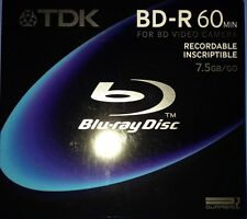 TDK Recordable Blu-ray Disc BD-R75A,8cm,7.5GB,Camera,for BD Video Camera