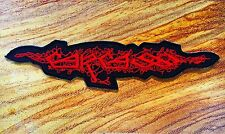 Carcass Sew Iron On Patch Embroidered Heavy Melodic Death Metal Rock Band Red