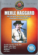 Merle Haggard Music Video DVD SHIPS NEXT DAY POP MUSIC COUNTRY STAGE LIVE RARE