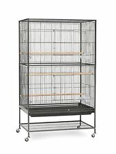 NEW! Prevue Pet Products Wrought Iron Flight Cage with Stand F040 Black Bird