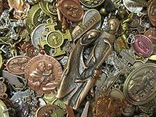 25 Religious Medal Pendant Crucifix Cross Lot#20 Our lady-Saint Random Selection