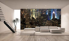 View of the Night New York Wall Mural Photo Wallpaper GIANT DECOR Paper Poster