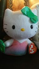 "NWT Sanrio Hello Kitty 6.5"" Mermaid Stuffed Polyester Plush Toy by Ty"