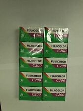 10 ROLLS FRESH FUJI  Fujifilm FUJICOLOR C200 35mm Color Negative Film 36EXP