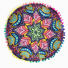 Round Indian Mandala Print Floor Bohemian Throw Sofa Pillows Case Cushions Cover