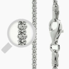 Italy Popcorn 150 Chain Sterling Silver Rhodium Plated Best Price Jewelry 24""