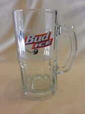 Beware The Penguins! 1996 Large Bud Ice Beer Glass Mug with Logo