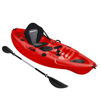 KAYAK SIT ON TOP FISHING SEA RIVER KAYAKS BEST DELUXE SEAT & PADDLE SET - RED