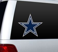 "BIG 10"" DALLAS COWBOYS CAR HOME PERFORATED WINDOW FILM DECAL NFL FOOTBALL"