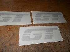 1983 1984 FORD MUSTANG GT FRONT FENDER TRUNK DECKLID DECAL SET OF 3 PIECES ARGEN