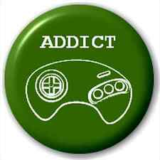 Small 25mm Lapel Pin Button Badge Novelty Console Addict Ps3 Xbox