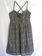 Converse One Star Cotton Black & White Floral Print Casual Sundress Size S