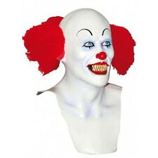Clown Scary Full Head Latex Mask with Hair Fancy Dress Halloween Adult