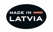 MADE IN LATVIA OVAL BUMPER STICKER DECAL. Latvija.