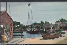 America Postcard - Mystic Seaport, 19th Century Village, Connecticut  RT1073