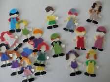 bitty people felt clothes x18 assembled sizzix die cuts