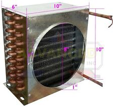 """New LEADER Condenser Coil for Commercial Coolers & Freezers 10""""x10""""x6"""""""