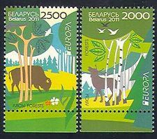 Belarus 2011 Europa/Forests/Trees/Nature/Environment/Animals 2v set (n33970)