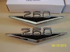 New 1964 Ford Falcon Mustang Fairlane 260 V-8 Front Fender Emblems 1 pr.