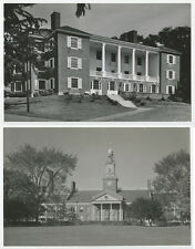 AMERICAN ARCHITECTURE SET OF 2 PHOTOS WELLS COLLEGE + GROSSE POINTE MICH H.S.