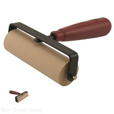Speedball Soft Rubber Brayer Inking Blocks Roller Painting Carved Surfaces 6 in
