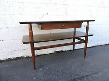 MCM Mid Century 2-Tier Console Table TV Stand with Drawer 7952