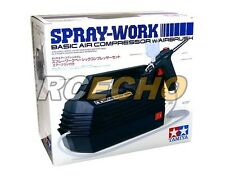 Tamiya Model Craft Tools Spray-Work Basic Air Compressor with Airbrush 74520