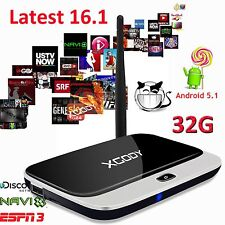 2GB RAM Android 5.1 Smart TV BOX latest Fully Loaded Quad Core 32GB WIFI 4K HDMI