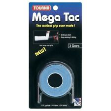 Tourna Mega Tac Tennis Squash Badminton Tennis Over Grip Blue Pack Of 3