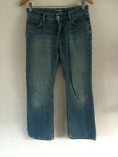 Oasis Jeans Denim Trousers Straight Leg Fray Hem Size 8  R1341