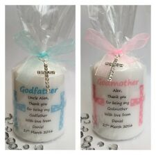 Personalised Godmother Godfather Gift Candle Godparent