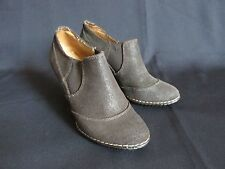 "Sofft Brown Suede Leather 3.5"" Heel Ankle Booties Women's US 7 M"