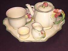 Vintage Royal Winton Tiger Lily Breakfast Tea Set 7 pc Grimwades - Free-Ship