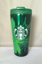 Starbucks Pine Tree Stainless Steel Mug Tumbler 16 oz 2014 New Mint