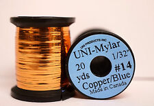 """Mylar hollywood uni 1/32"""" = 0,8mm #14 dos colores copper/Blue"""