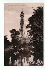 Tower And Lake New Brighton Cheshire 1899 Valentines 31983 Card Published 1913