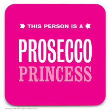Brainbox Candy prosecco princess coaster beer mat alcohol funny joke gift humour