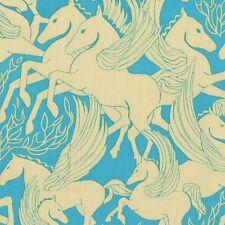HELIOS IN ICE Fabric FQ Anna Maria Horner FIBS & FABLES Pegasus HORSE Greek Myth