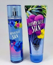 Bath and Body Works HONOLULU SUN Fragrance Mist and Body Cream - 2 pc Set -
