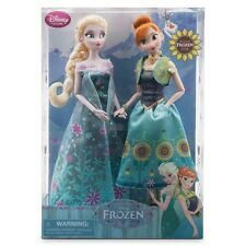 Frozen fever doll set Anna and Elsa Disney store authentic new in box
