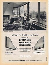 PUBLICITE ADVERTISING 045 1959 SAINT GOBAIN vitrages isolants