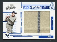 2005 BABE RUTH Playoff Absolute Jumbo Jersey Patch Tools of the Trade BGS 9