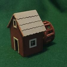 Vintage fully assembled HO Scale Model Train Old West Wooden Water Mill Building