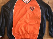 Chicago Bears Nylon Warm Up Pull Over Pullover Jacket Size  XXL 2XL