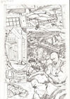 G.I. Joe #2 pg 12 ORIGINAL Pencil Art Steve Kurth 11 x 17 DRONE TEAM IDW 2013