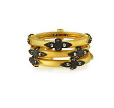 Freida Rothman Old World Style Gold w/Black Vermeil Ring Sz 6, 7 or 8  ONE RING