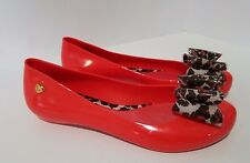 MEL Melissa Love Red Bow Sweet Scented Jelly Ballet Flats Shoes Nordstroms Sz 8M