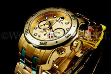 Invicta Men Pro Diver Scuba 18K Gold Plated Swiss Chrono S.S Bracelet Watch NEW