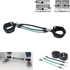 3X Leg Thigh Fitness Resistance Band Exercise Tube Ankle Strap Strength Training