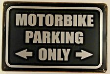 Moto aparcamiento Vintage Retro Tin Metal Sign Placa Decoración del hogar Studio Garage